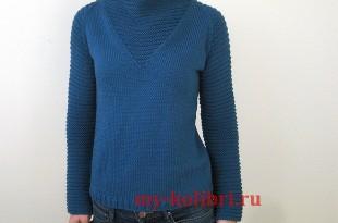 Молодежный свитер <i>как вязать кардиган схемы и описания крючком</i> спицами платочной вязкой «Space Girl»_7
