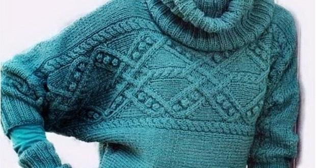 Ворот для свитера вязание спицами 920