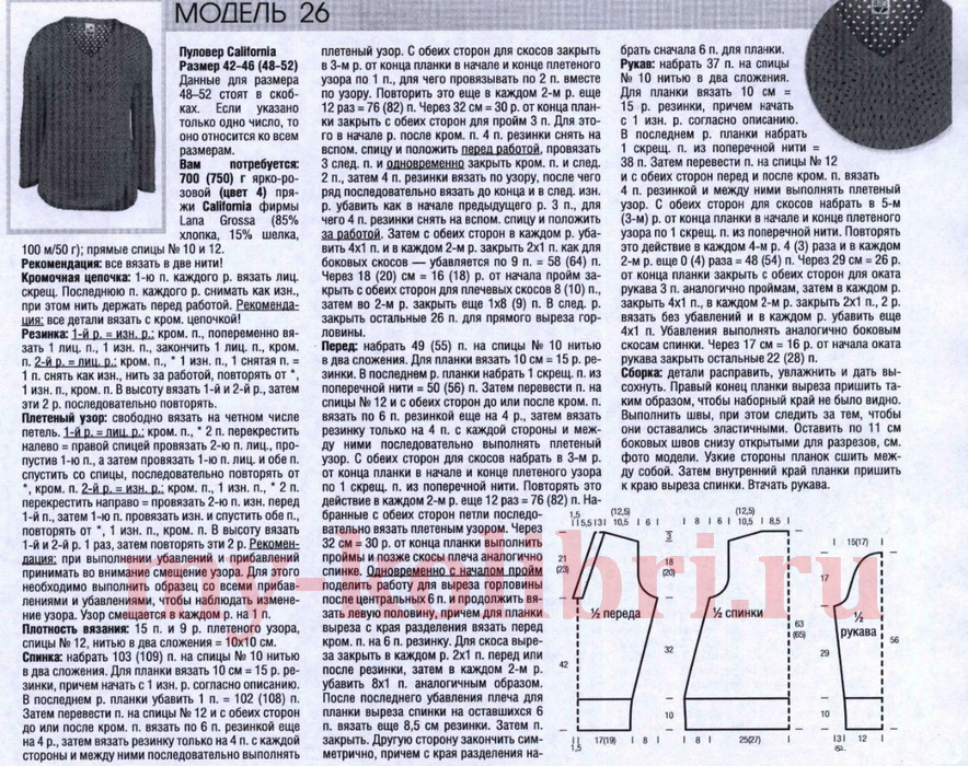 Образцы рисунков для вязания спицами и крючком