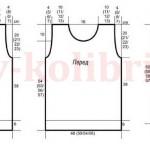 Женский свитер спицами полупатентным узором и высоким воротником1