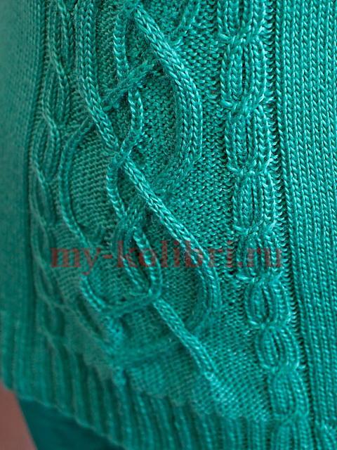 Свитер спицами для женщин с высоким воротником- схема и описание_2