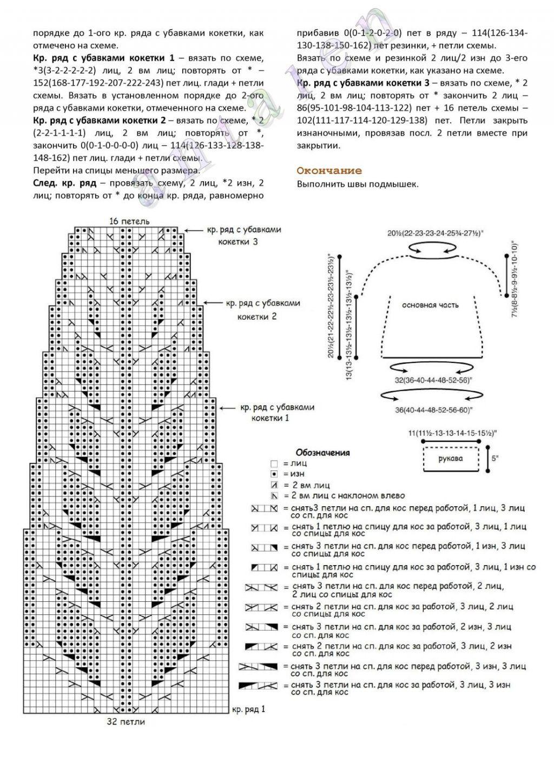 Вязаный женский свитер схема фото 484