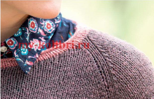 свитер спицами платочной вязкой «Georgia»_1