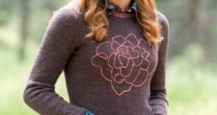 свитер спицами платочной вязкой «Georgia»_2