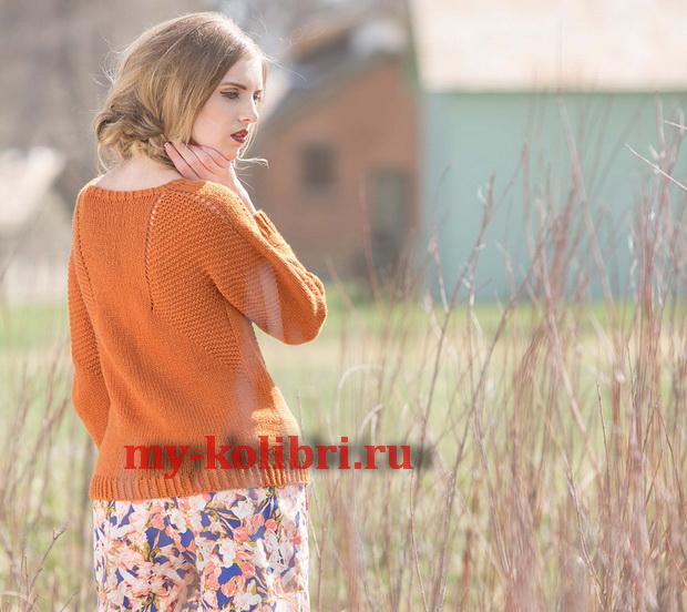 Модный пуловер спицами Caldwell pullover фото_1