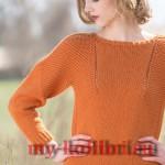Модный пуловер спицами Caldwell pullover фото_2