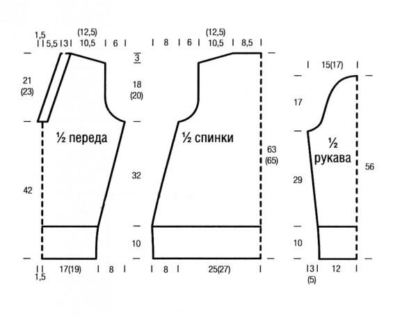 Модны-й свитер спицами, вязанный оригинальным плетеным узором_1