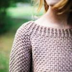 Стильный пуловер спицами Elbow Patches фото_3